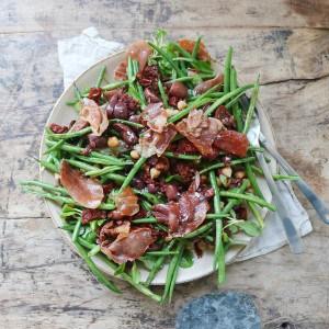 Salat med grønne bønner