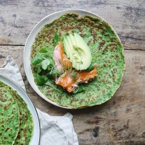 Pandekager med grønkål
