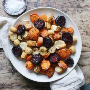 Rodfrugter bagt i ovnen