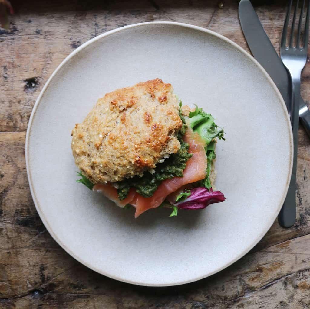 Sandwich af protein grødboller
