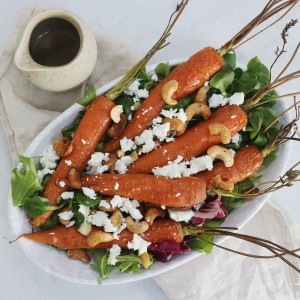 Bagte gulerødder med honning