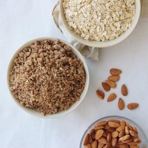 Ingredienser til rugbrøds mysli