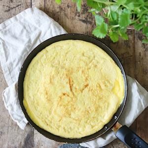 Omelet på panden