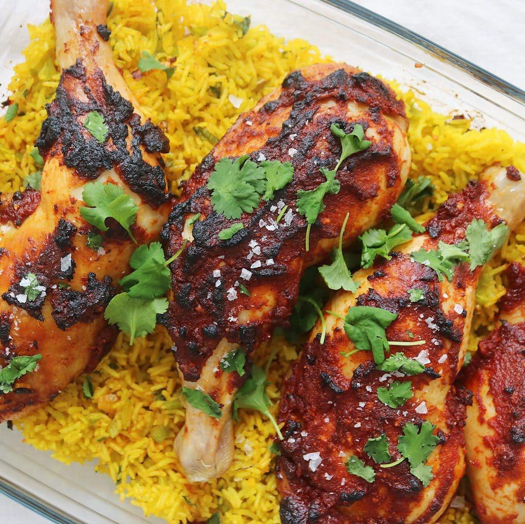 Tandori kylling med stegte ris