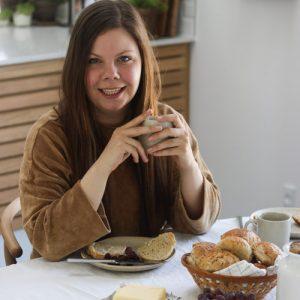 Maria Vestergaard i køkken
