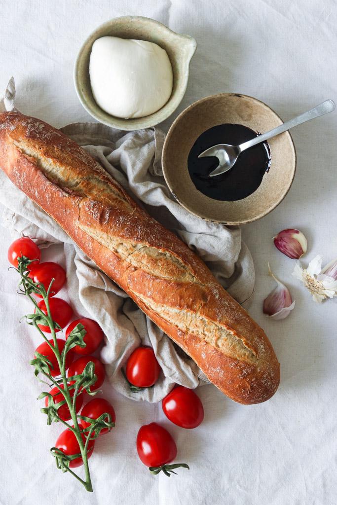 Ingredienser til bruschetta