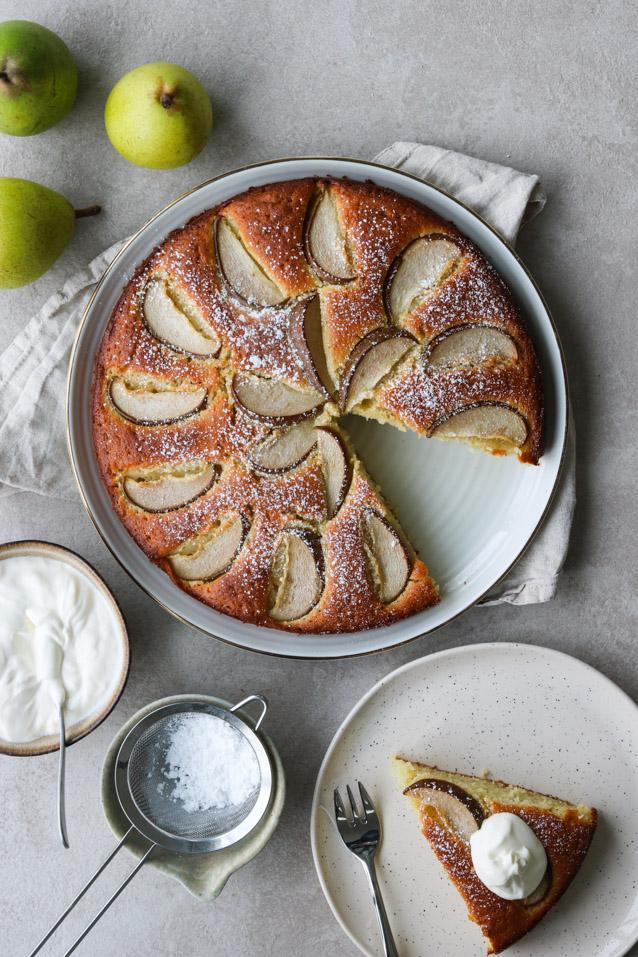 Kage med pære
