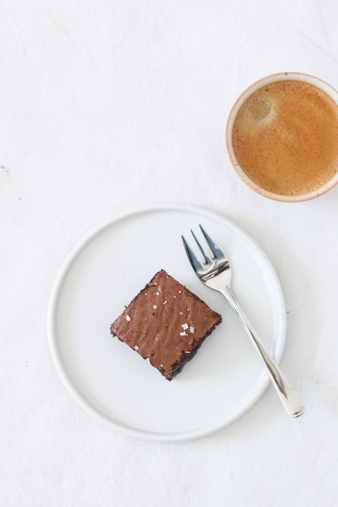 Brownie og kaffe