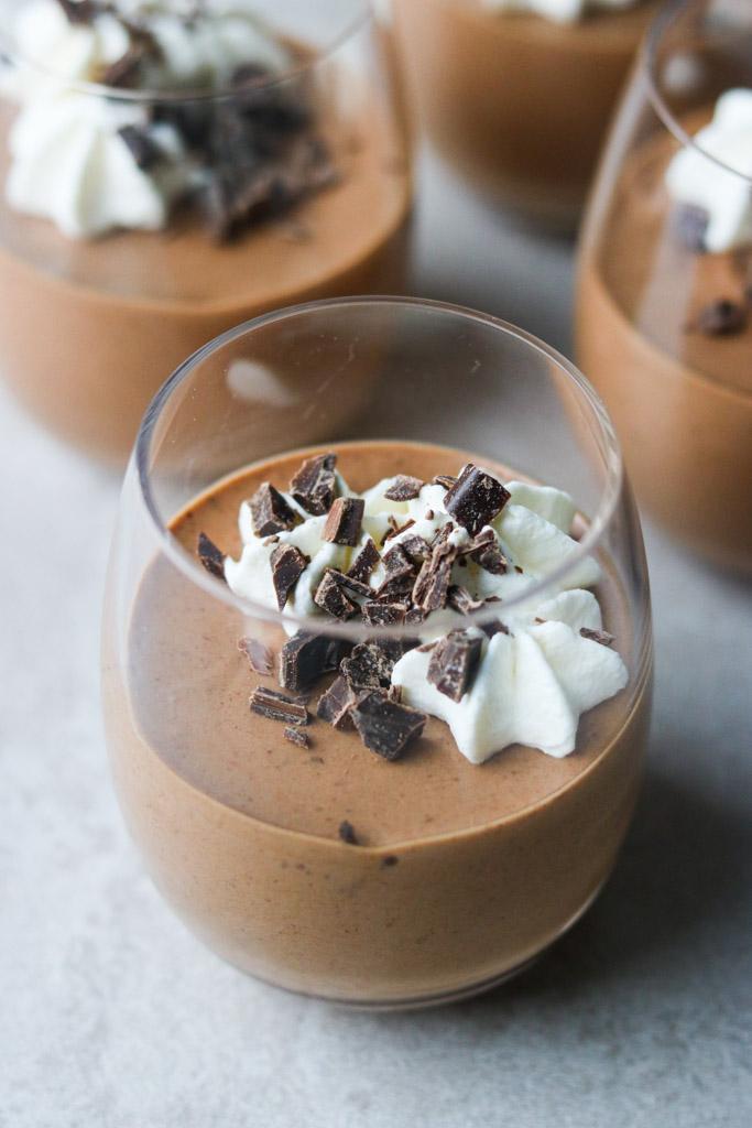 Mousse med chokolade