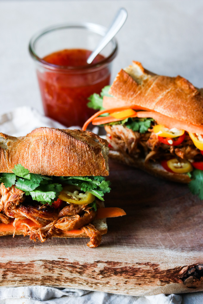 Sandwich med pulled kylling