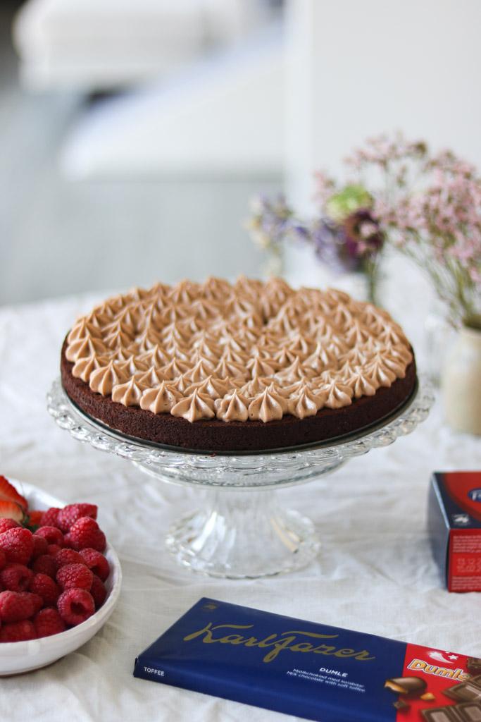 Chokolademousse i kage