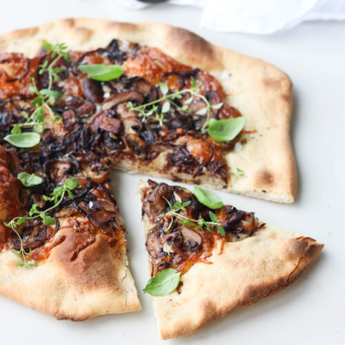 Pizza med svampe