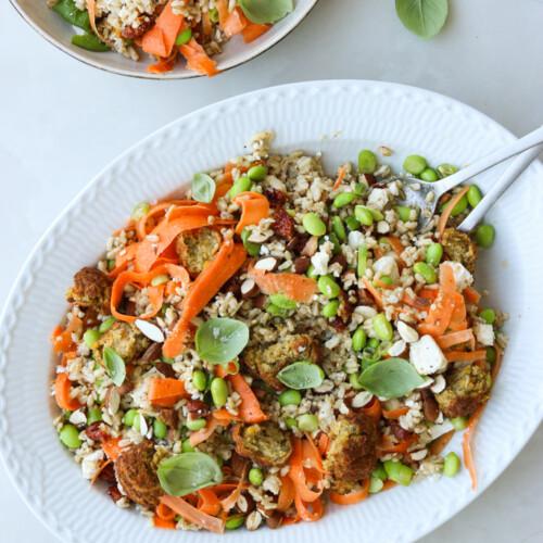 salat med havreris